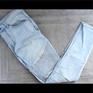 H&M motor skinny men pants